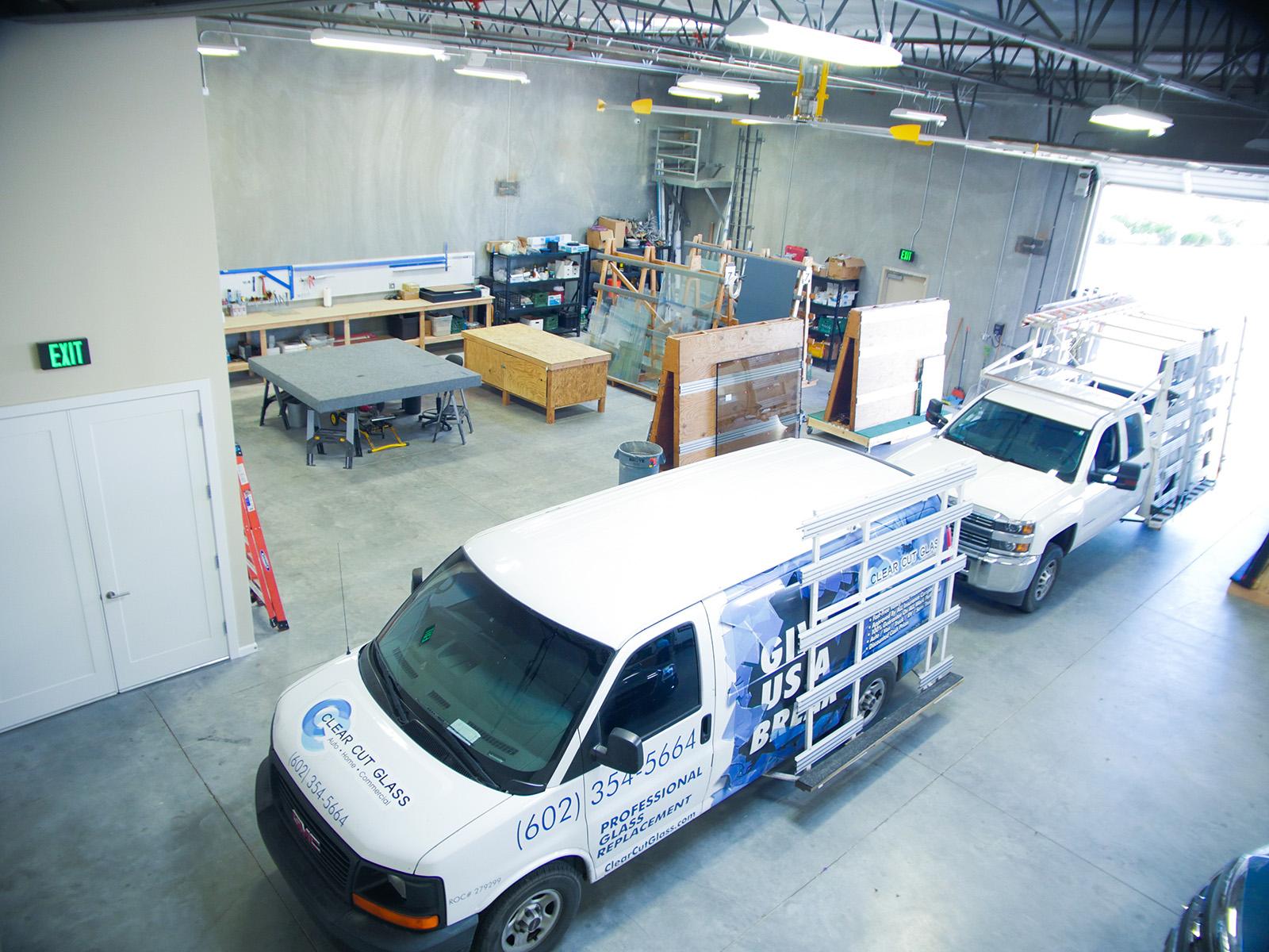 Clear Cut Glass Fleet Trucks