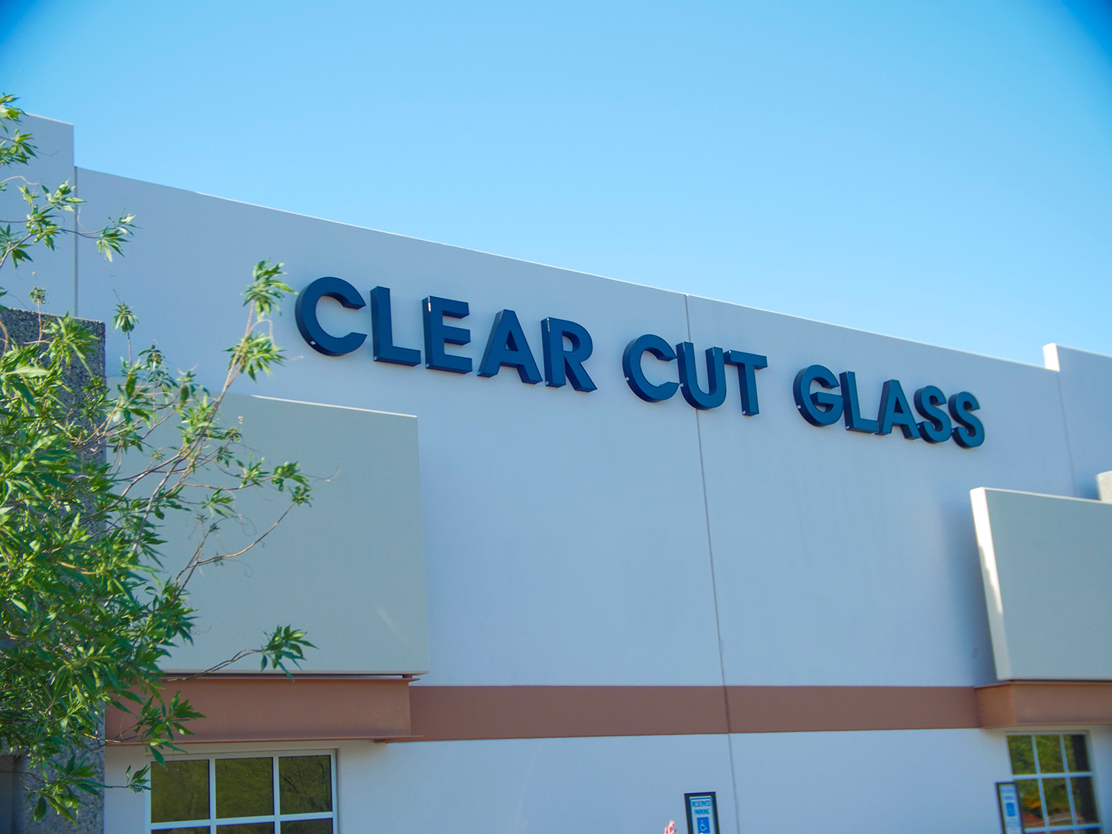 Clear Cut Glass Storefront