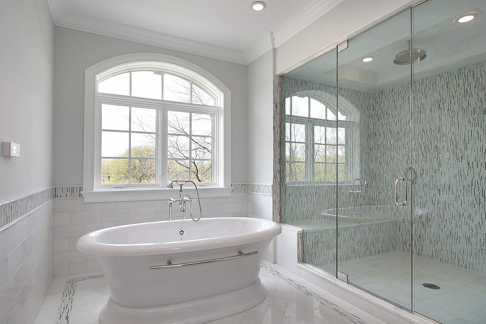 White Bathroom with beautiful tub